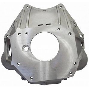 Custom Cast Aluminum OEM Bell Housing on Transmission